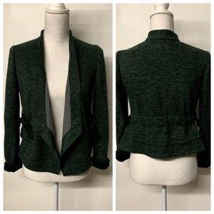 Cartonnier Anthro Green Marled Wrap Tie Jacket